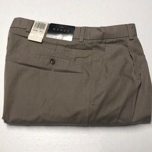 🆕 DOCKERS EXACT Mens Tan Dress Pants 36 x 32